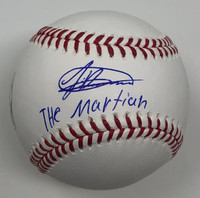 "JASSON DOMINGUEZ Autographed ""The Martian"" New York Yankees MLB Baselball FANATICS"