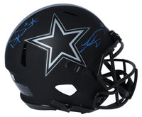 DAK PRESCOTT / CEEDEE LAMB Autographed Dallas Cowboys Eclipse Authentic Helmet FANATICS