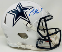 CEEDEE LAMB Autographed Dallas Cowboys White Matte Authentic Speed Helmet FANATICS