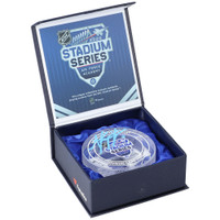 ANZE KOPITAR Autographed '20 Stadium Series Ice Crystal Puck Display FANATICS