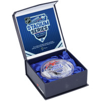 PHILIPP GRUBAUER Autographed Stadium Series Game Used Ice Crystal Puck Display FANATICS