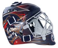 "GRANT FUHR Autographed ""HOF 03"" Edmonton Oilers Mini Goalie Mask FANATICS"