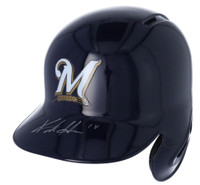 KESTON HIURA Autographed Milwaukee Brewers Batting Helmet FANATICS