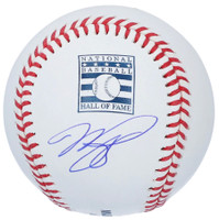 MIKE PIAZZA Autographed New York Mets HOF Logo Official Baseball FANATICS