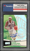 VINCE CARTER Autographed 2006 Brooklyn Nets TOPPS Luxury Box Card FANATICS LE 157/224