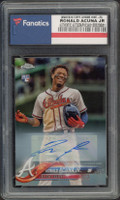 RONALD ACUNA Jr. Autographed Atlanta Braves 2018 TOPPS Chrome Card FANATICS
