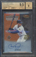 CAL RIPKEN Jr. Baltimore Orioles Autographed 2000 Bowman's Best Card BECKETT 9.5