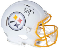 BEN ROETHLISBERGER Signed Pittsburgh Steelers White Matte Authentic Speed Helmet FANATICS