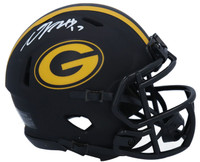 DAVANTE ADAMS Autographed Green Bay Packers Eclipse Mini Speed Helmet FANATICS