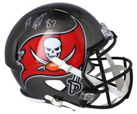 ROB GRONKOWSKI Autographed Tampa Bay Buccaneers Full Size Speed Helmet FANATICS
