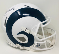 JARED GOFF Autographed Los Angeles Rams White Matte Speed Authentic Helmet FANATICS