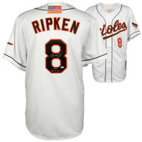 "CAL RIPKEN Jr. Autographed ""2007 Hall Of Fame"" Baltimore Orioles Authentic Jersey FANATICS"