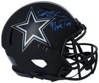 """DEION SANDERS Autographed """"Primetime"""" Dallas Cowboys Authentic Eclipse Helmet FANATICS"""