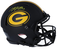 DAVANTE ADAMS Autographed Green Bay Packers Authentic Eclipse Speed Helmet FANATICS