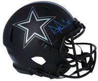 DAK PRESCOTT Autographed Dallas Cowboys Authentic Speed Eclipse Helmet FANATICS