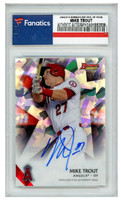MIKE TROUT Autographed Los Angeles Angels 2015 Bowmans Best Card FANATICS LE 35/50