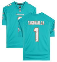 """TUA TAGOVAILOA Autographed """"Fins Up"""" Miami Dolphins Nike Game Jersey FANATICS"""