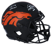 "PEYTON MANNING Signed ""SB 50 Champs"" Denver Broncos Eclipse Authentic Helmet FANATICS"