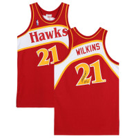 "DOMINIQUE WILKINS Autographed ""HOF 15"" Atlanta Hawks Authentic Jersey FANATICS"