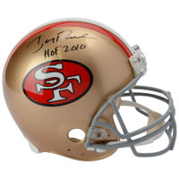 "JERRY RICE Autographed and Inscribed ""HOF 2010"" San Francisco 49ers Authentic Helmet FANATICS"