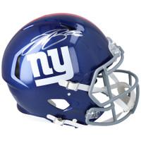 SAQUON BARKLEY Autographed New York Giants Speed Authentic Helmet FANATICS