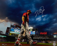 "MIKE TROUT Autographed and Inscribed ""MILLVILLE METOR"" Los Angeles Angels City Field 16"" x 20"" Photograph MLB AUTHENTICATED"