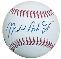 MIKE TROUT Los Angeles Angels Autographed Full Name Official MLB Baseball MLB AUTHENTICATED