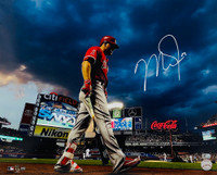 "MIKE TROUT Autographed Los Angeles Angels ""Clouds at Citi Field"" 16"" x 20"" Photograph MLB AUTHENTICATED"