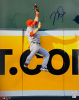 "MIKE TROUT Autographed Los Angeles Angels ""The Catch"" 16"" x 20"" Photograph MLB AUTHENTICATED"