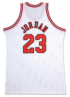 MICHAEL JORDAN Autographed Chicago Bulls White 1997-98 Authentic Mitchell & Ness Jersey UDA
