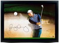 RORY McIlroy Hand Signed Breaking Through with Range Driven Ball Display UDA LE 100