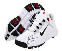 TIGER WOODS Hand Signed Authentic TW 13 White Shoe UDA