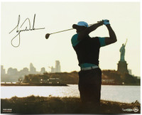 "TIGER WOODS Hand Signed ""Lady Liberty"" 16 x 20 Photograph UDA LE 100"