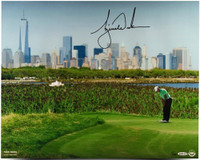 "TIGER WOODS Hand Signed ""NYC Skyline"" 16 x 20 Photograph UDA LE 100"