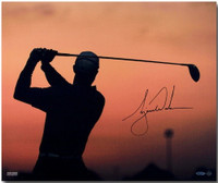 "TIGER WOODS Hand Signed ""Sunrise"" 20 x 24 Photograph UDA"