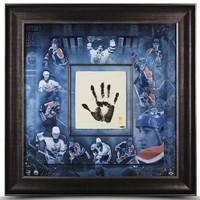 """WAYNE GRETZKY Hand Signed """"TEGATA"""" Stamped Framed Career Mosaic UDA LE 99"""