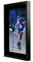 WAYNE GRETZKY Signed Rangers Slap Shot Break Through Photo UDA