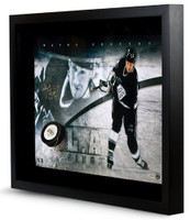 WAYNE GRETZKY Signed Kings Slap Shot Break Through Photo UDA