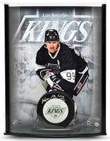 WAYNE GRETZKY Signed Kings Puck Curve Display UDA LE 99
