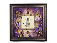 MAGIC JOHNSON Signed Inscribed LA Lakers Tegata LE of 32 UDA.