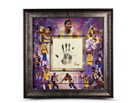 MAGIC JOHNSON Signed Inscribed LA Lakers Tegata LE of 32 UDA.