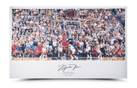 "MICHAEL JORDAN Signed ""98 Last Shot vs. Jazz"" Illustration UDA."