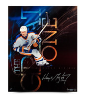 WAYNE GRETZKY Signed The Great One Aluminum Print.