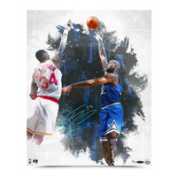"SHAQUILLE O'NEAL AUTOGRAPHED ""BABY HOOK"" 16X20 PHOTO."