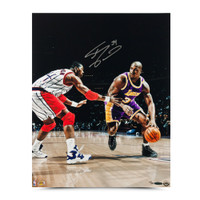 "SHAQUILLE O'NEAL AUTOGRAPHED ""POWER MOVE"" 16 X 20 PHOTO."