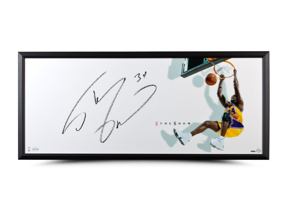 """SHAQUILLE O NEAL AUTOGRAPHED """"THE SHOW"""" 46 X 20 FRAMED 1767f1ed6"""