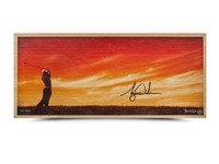 """TIGER WOODS AUTOGRAPHED """"PERFECTING THE CRAFT"""" BAMBOO PRINT"""