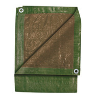 10 ft. x 12 ft. Green/Brown Tarp