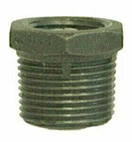 Hex Bushing, Black & Galvanized Iron (Multiple Sizes Available)