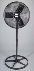 "24"" Quiet Oscillating Pedestal Fan, 1/4 HP, 120V"
